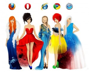 browsers vs girls: firefox opera ie chrome safari