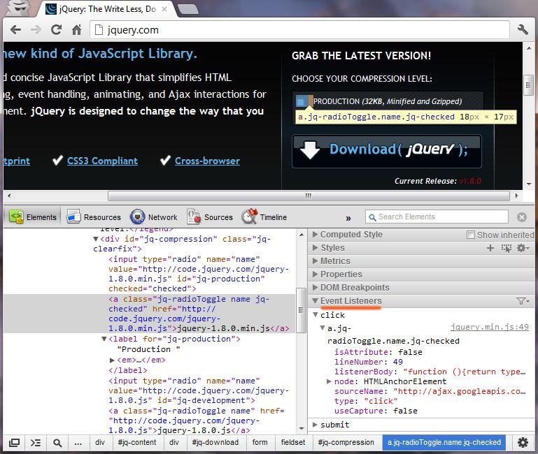 debug javascript jQuery – web-profile