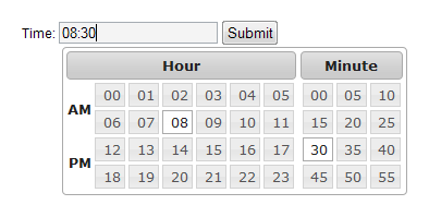 jQuery timepicker – web-profile