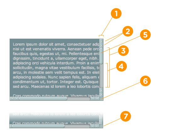 webkit scrollbar parts